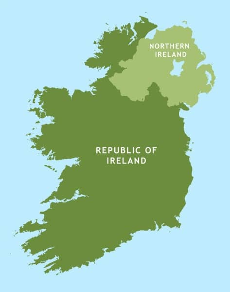 10 differences between Northern Ireland and the Republic of Ireland include size