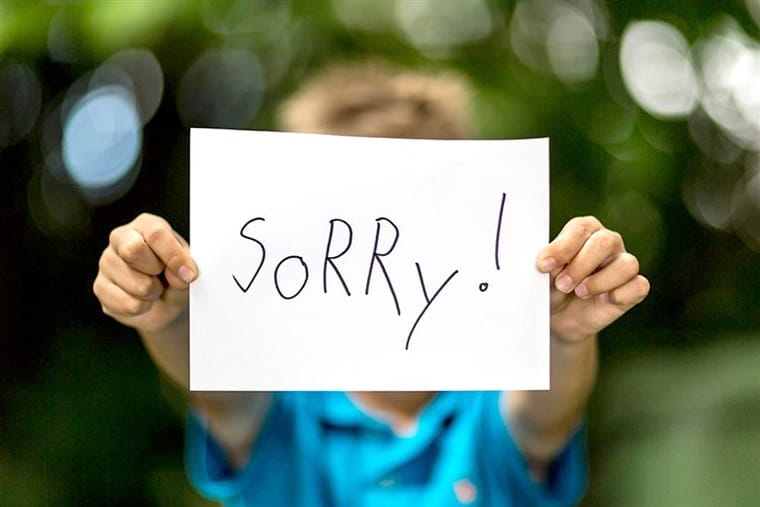 "Us Irish are polite folk and we always say ""sorry"" in lieu of saying ""excuse me""."