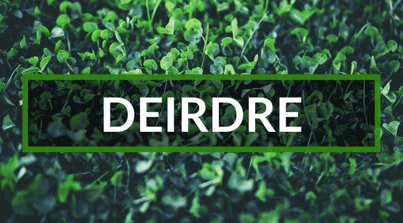 Deirdre is another one of our top picks for Irish girl names.