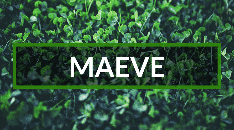 Another of our top picks for Irish girl names is Maeve.