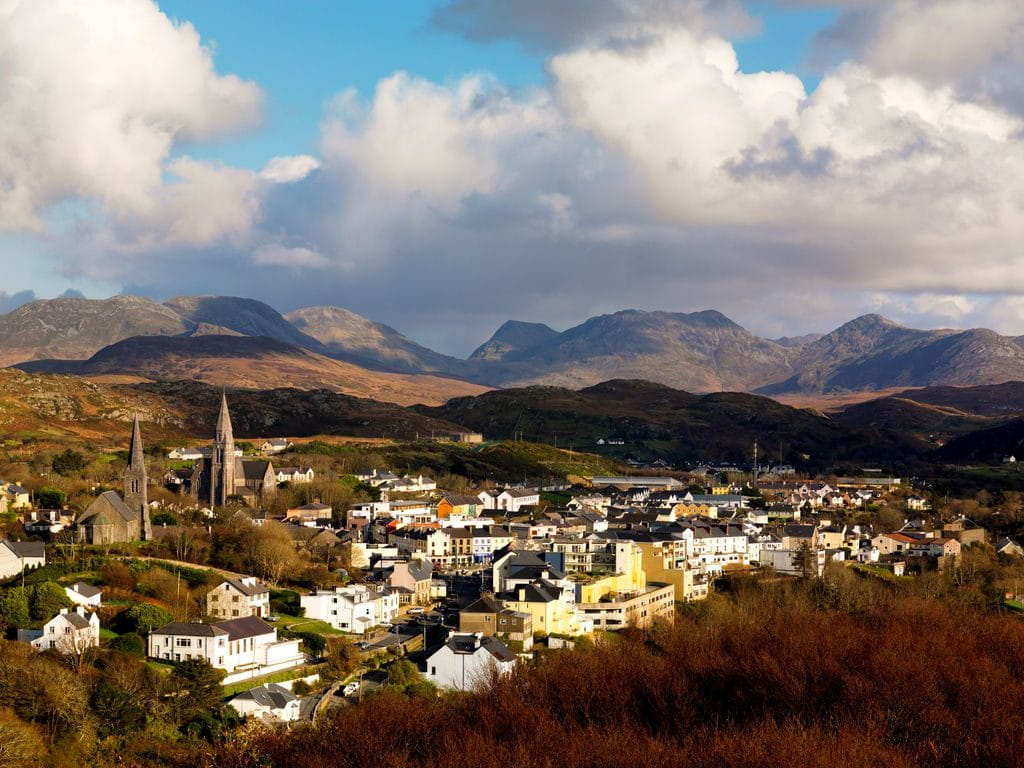 Clifden in County Galway, is one of the best towns to visit in Ireland.