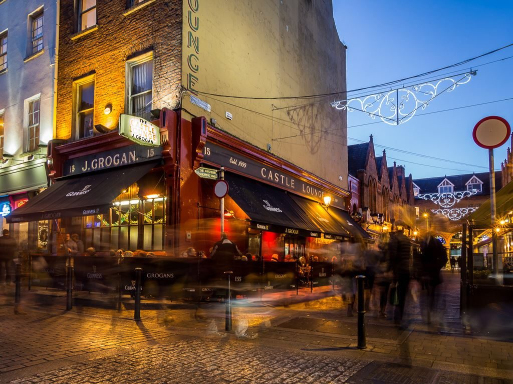 Grogan's Pub is suggested in our backpacker's guide to Dublin