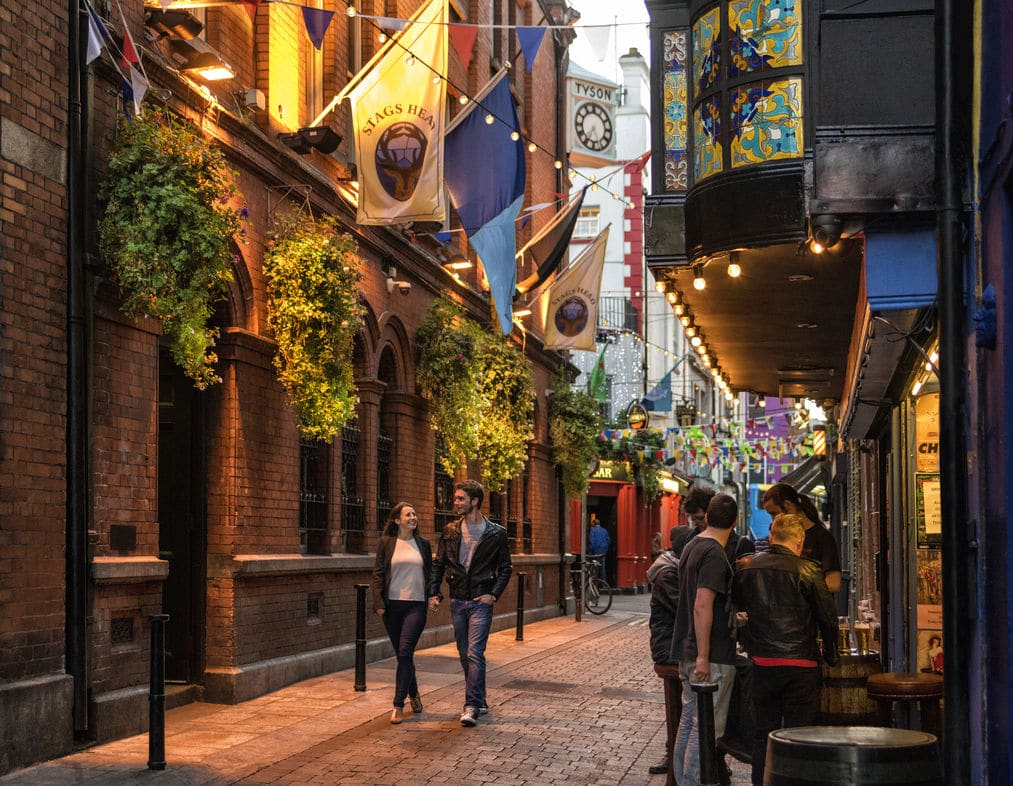 The Temple Bar area is a must if you're new to Dublin
