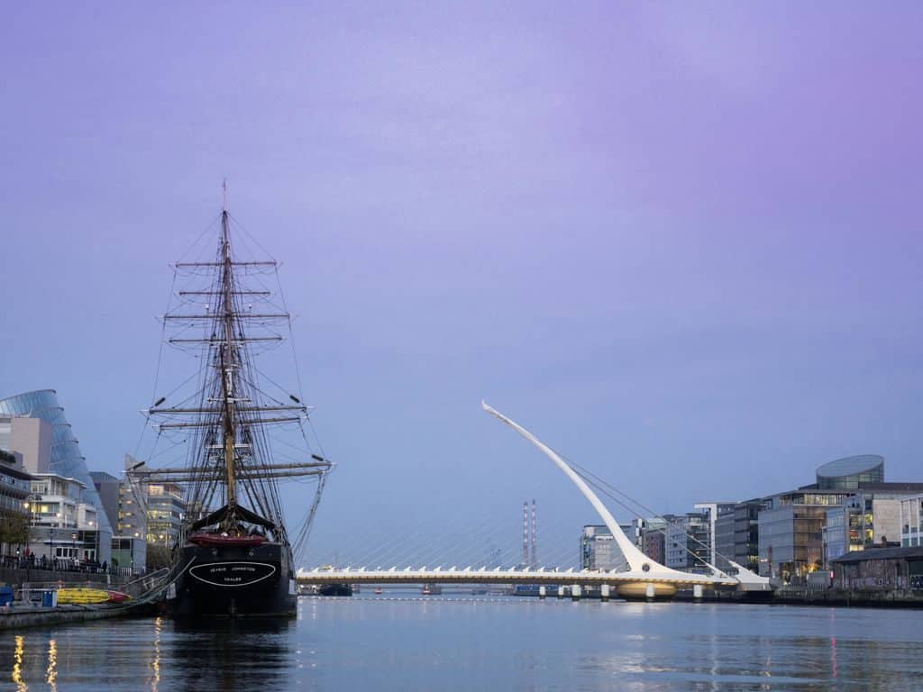 The Jeanie Johnston Tall Ship is located in Dublin.