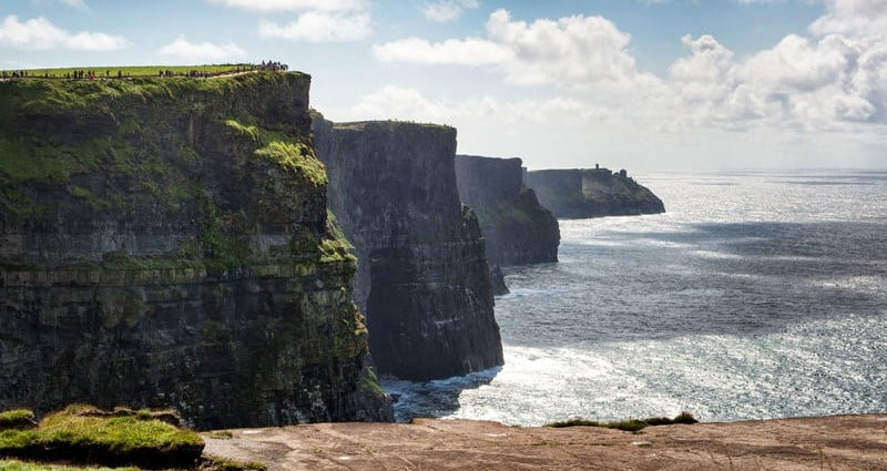 Check out the country's natural beauty, such as the Cliffs of Moher