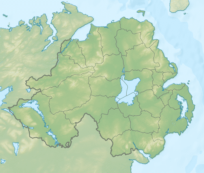 Map Of Republic Of Ireland Showing Counties.10 Facts You Never Knew About The Border In Ireland