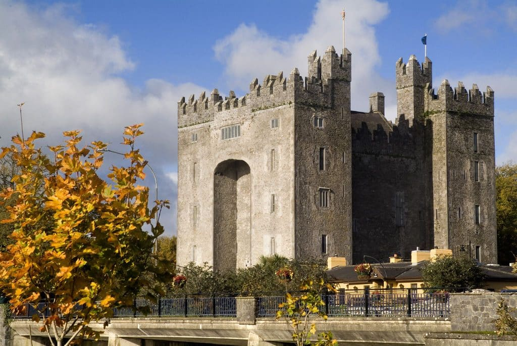 Another of the best castles in Ireland is Bunratty Castle in Co. Clare.