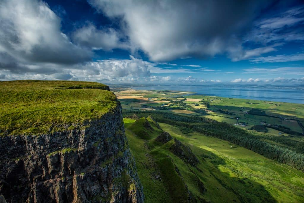 Binevenagh Mountain Walk is another of the best hikes and walks in Northern Ireland.