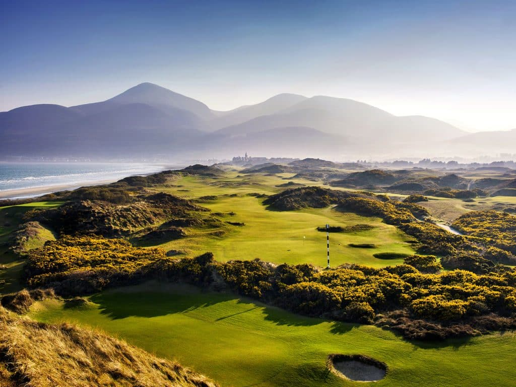 The Royal County Down Golf Club is the most highly-rated course in the North of Ireland