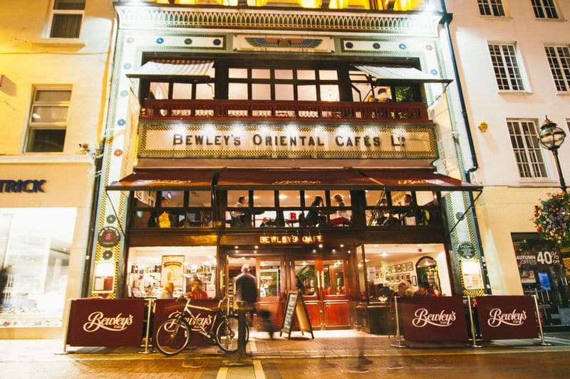 Bewley's hot chocolate is popular at Christmastime in Dublin