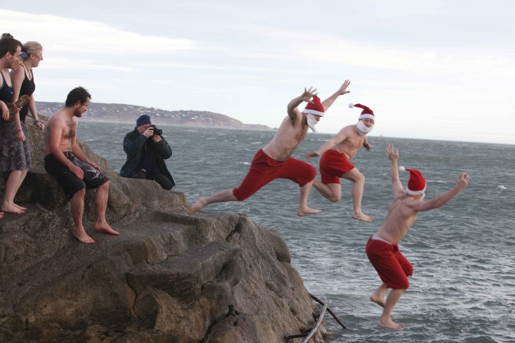 The traditional Christmas day swims in Dublin are one reason to visit at Christmas