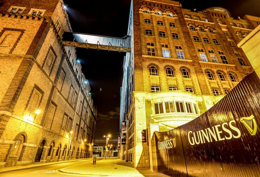 The Guinness Storehouse is first place on the list of Ireland's 20 most popular attractions that charge a fee