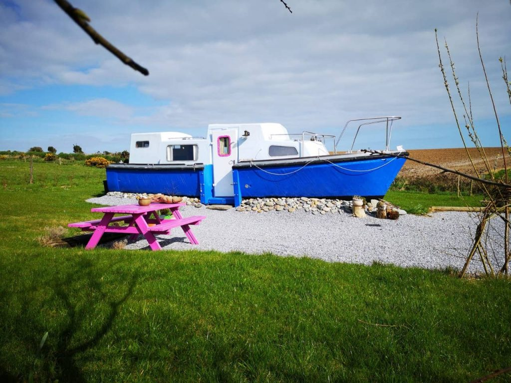 This quirky Irish land boat is available to rent on Airbnb