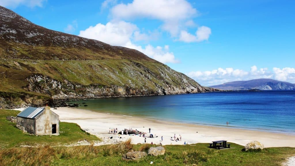 Keem Bay is one of the best beaches in Ireland, kick back and soak up the sun.
