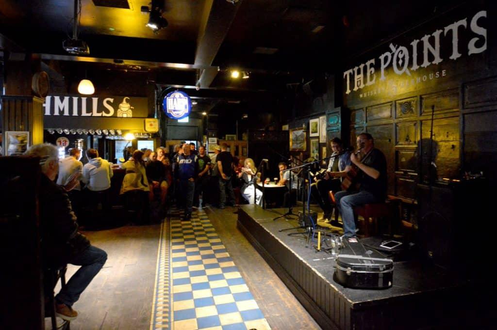 Inside The Points in Belfast.