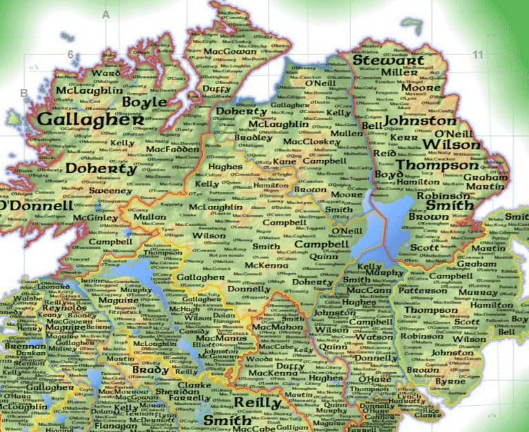 Here are the top 20 most common surnames in Northern Ireland