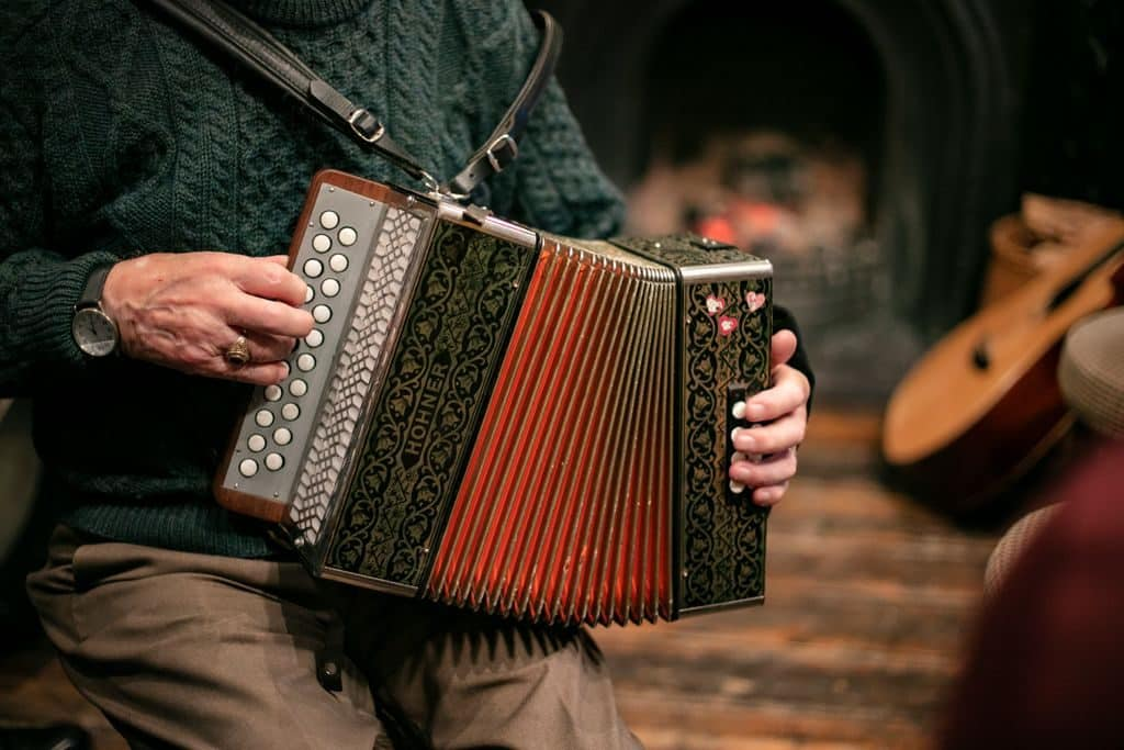 The accordion is one of the top 10 instruments used in traditional Irish music
