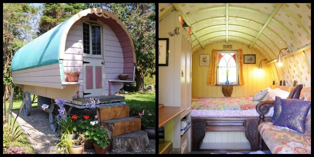 This gypsy wagon for rent on Airbnb is like something from a fairy tale