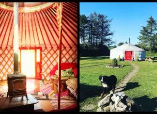 This Mongolian yurt in Cork is available on Airbnb, and it's exotic