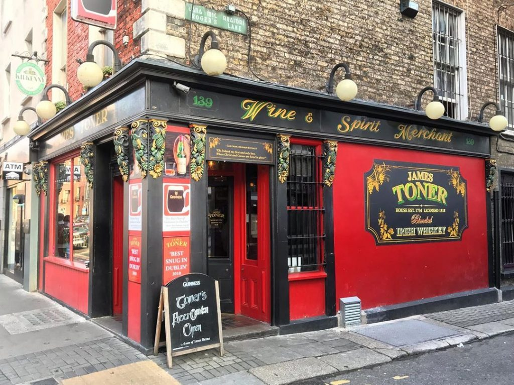 Toner's is one of the top 10 bars and pubs that Dublin locals swear by