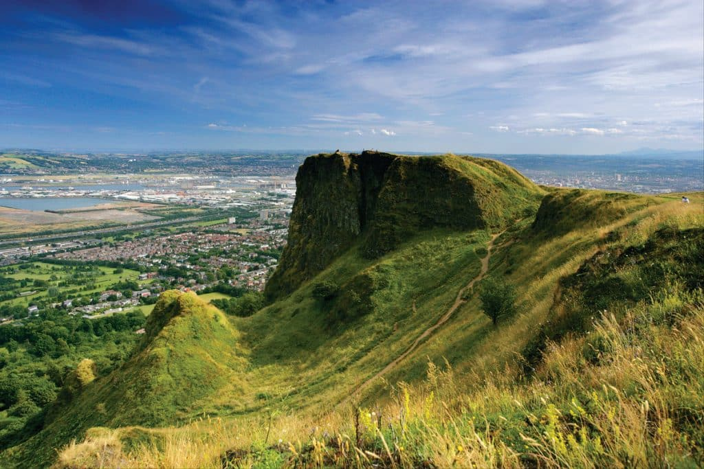 Cave Hill offers the best view of Belfast and is another of the best things to do in Northern Ireland.
