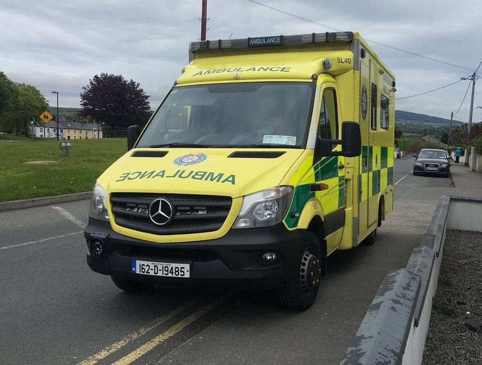 Traditionally people in rural Ireland make a sign of the cross when seeing an ambulance.