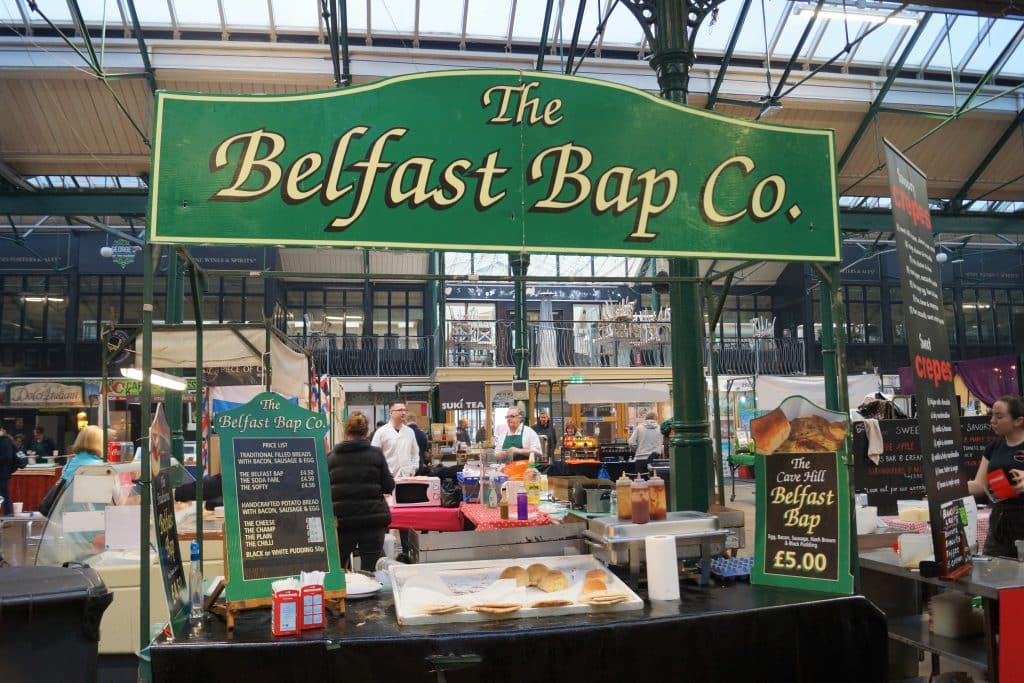 The Belfast Bap Co. is one of 10 food stalls you have to try at St. George's Market in Belfast