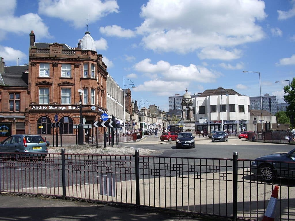 Coatbridge, Scotland, has a large concentration of expats from Ireland