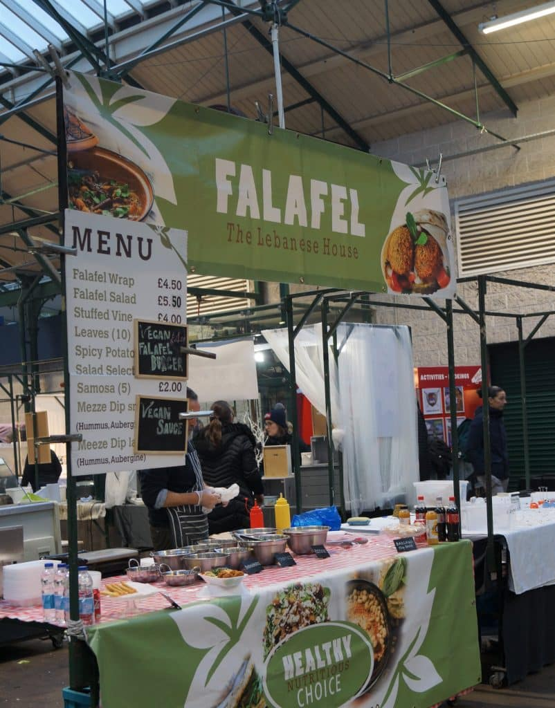 The Falafel food stall will transport you to the Middle East
