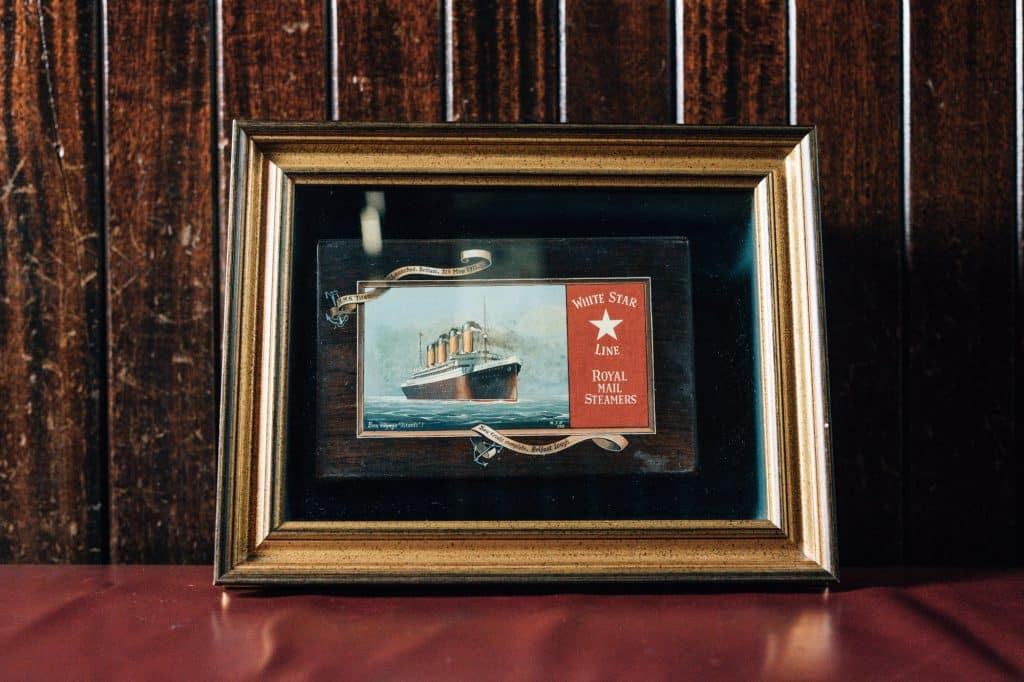 This jewellery box is an item of Titanic memorabilia you'll find in this Belfast bar