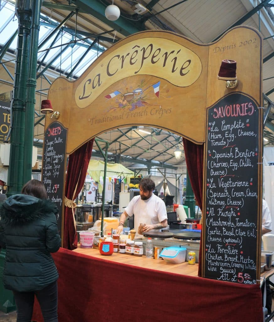 La Creperie is one of 10 food stalls you have to try at St. George's Market in Belfast