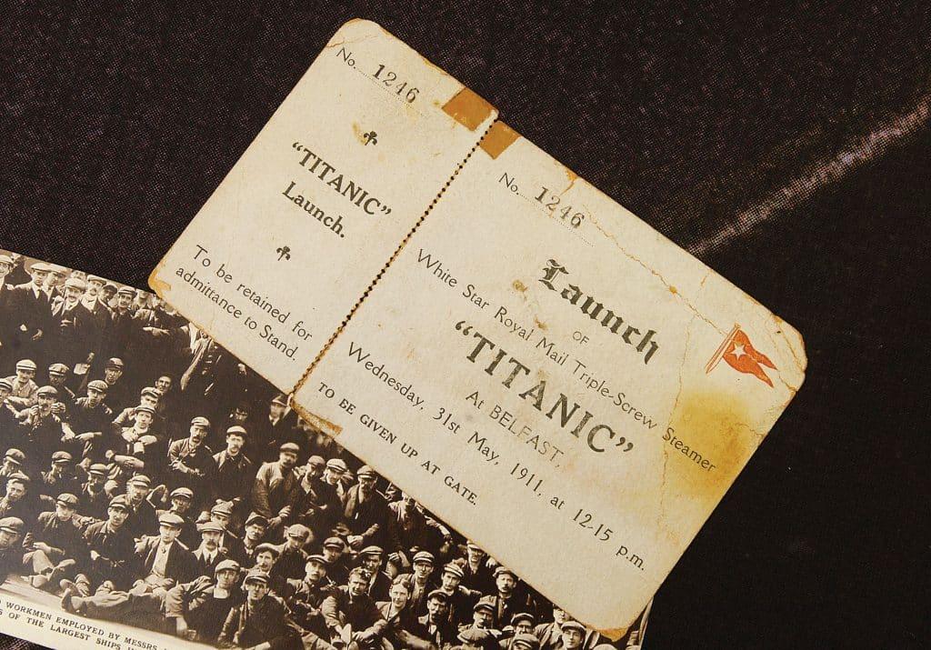 Titanic memorabilia you'll find in Robinson's Bar include a launch ticket
