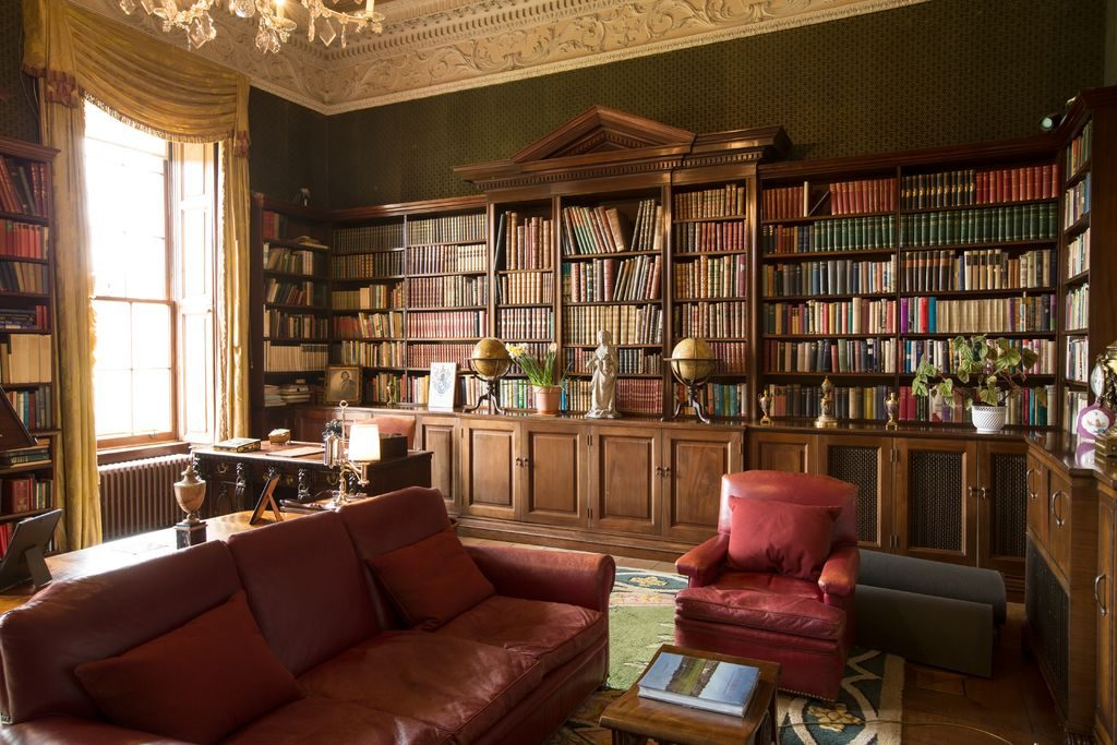 Russborough House in County Wicklow contains a cosy library