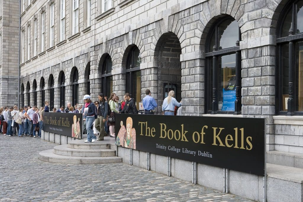 The Book of Kells Exhibition in Dublin is popular among tourists