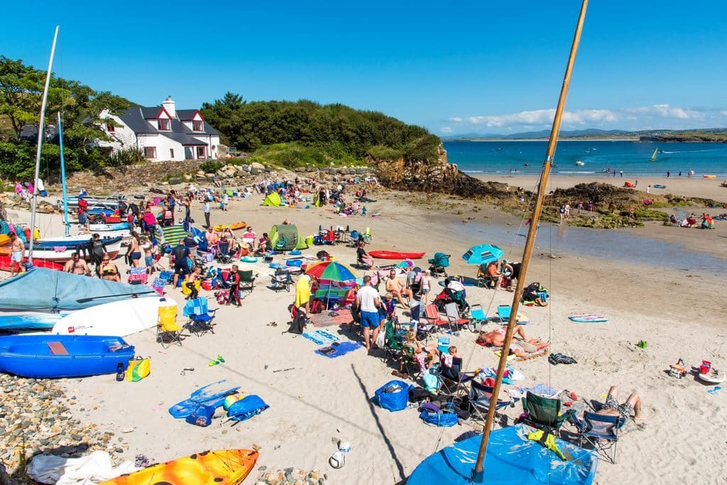 Beaches are always packed on warm days in Ireland