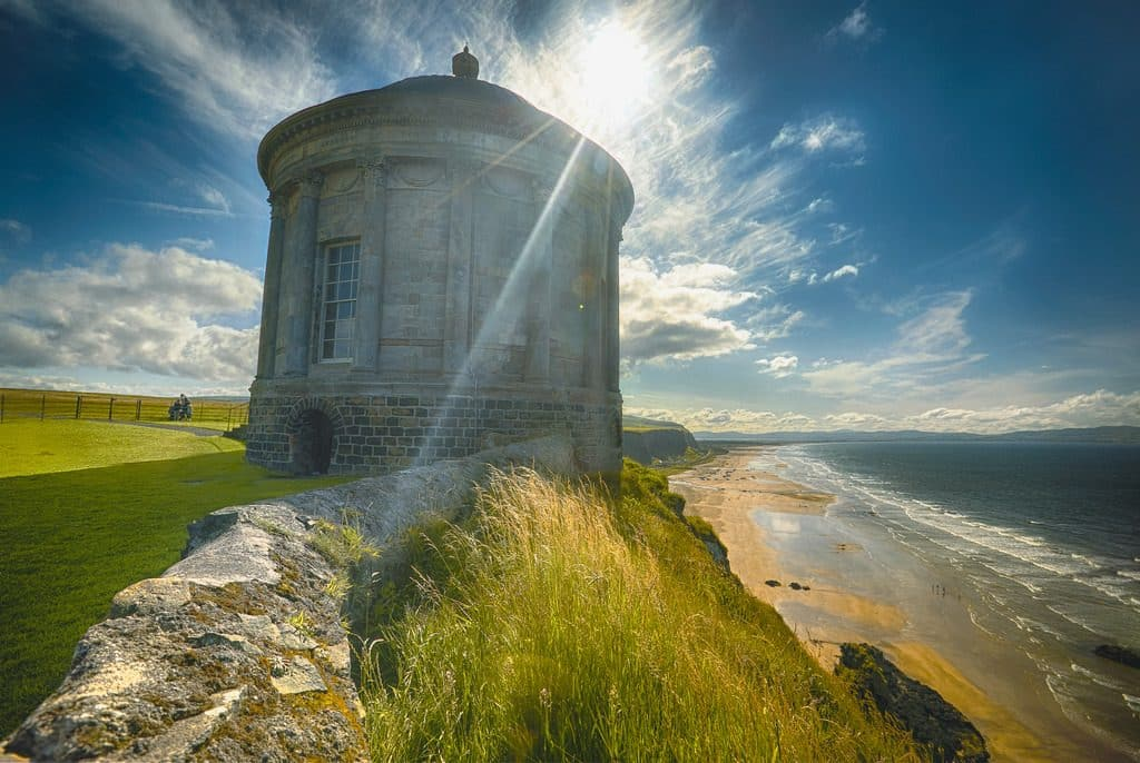 Mussenden Temple and its amazing view, is one of our top places to elope in Ireland.