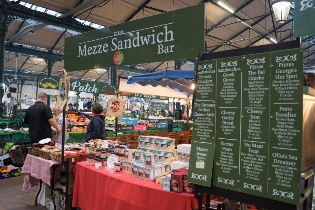 Mezze Sandwich Bar is one of 10 food stalls you have to try at St. George's Market in Belfast