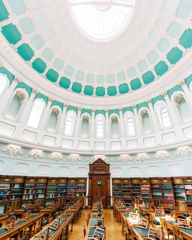 The National Library of Ireland is one of the most beautiful libraries in Ireland