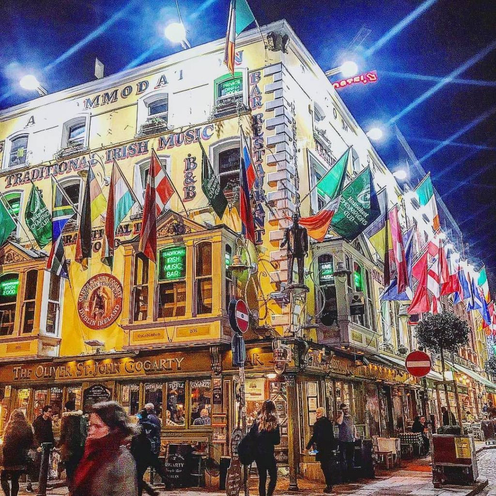 Oliver St. John Gogarty's is one of the 10 best late bars in Dublin