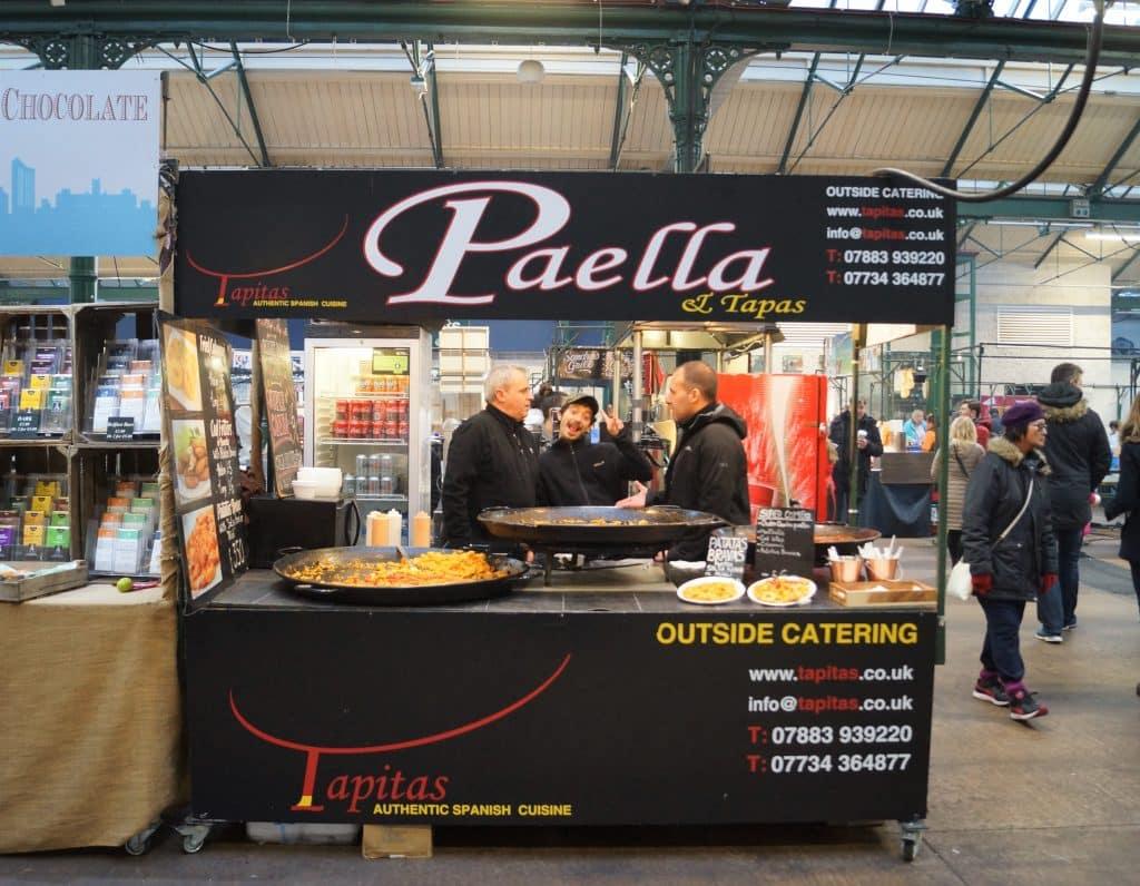 Paella & Tapas sells great Mediterranean food