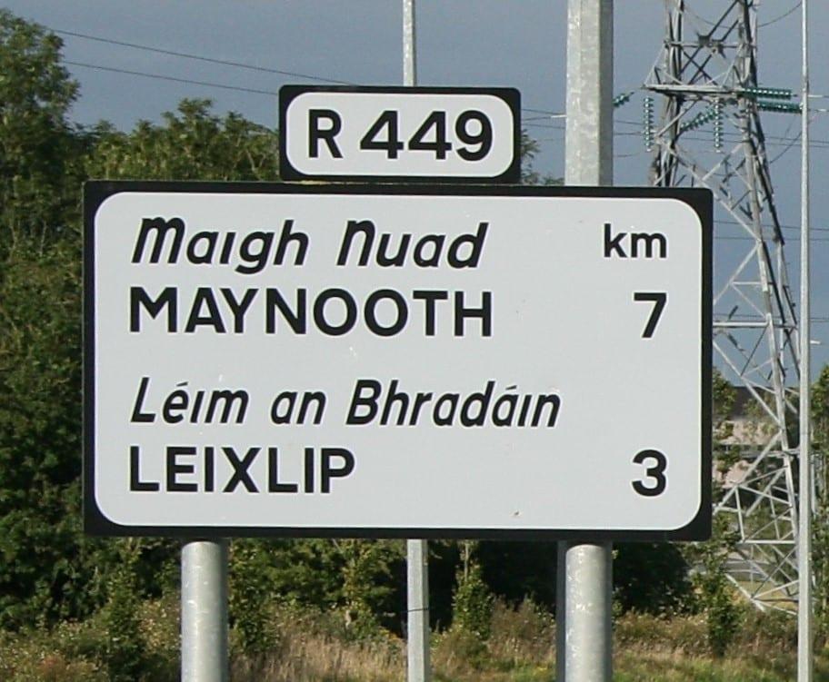 Dublin uses kilometres, not miles