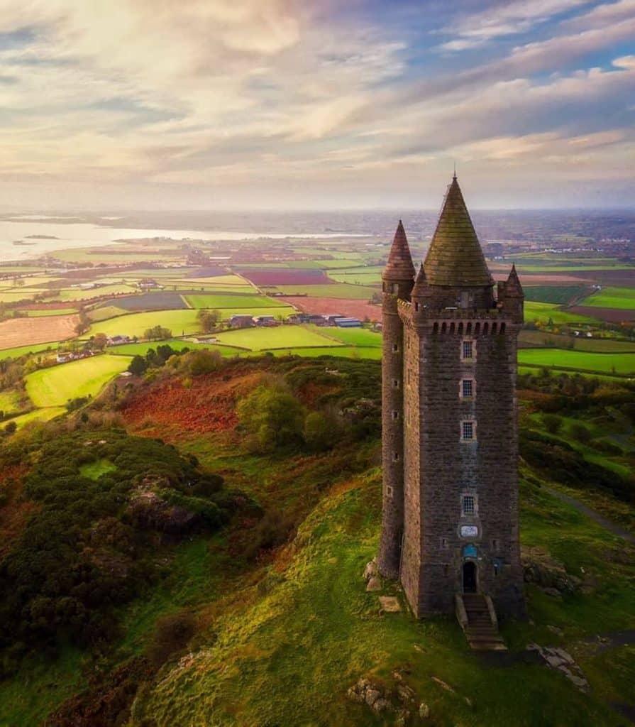 Scrabo Tower near Belfast offers a beautiful viewpoint