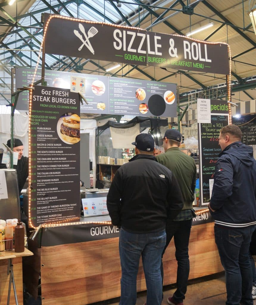 Sizzle & Roll is one of 10 food stalls you have to try at St. George's Market in Belfast