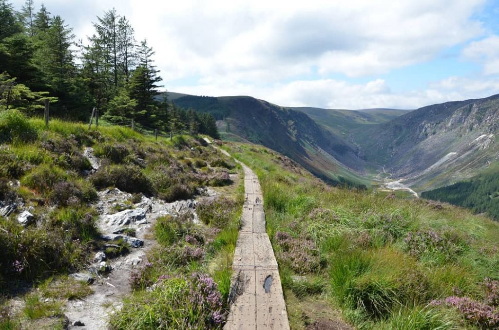 The Spinc Glendalough is a strenuous climb that offers dramatic views