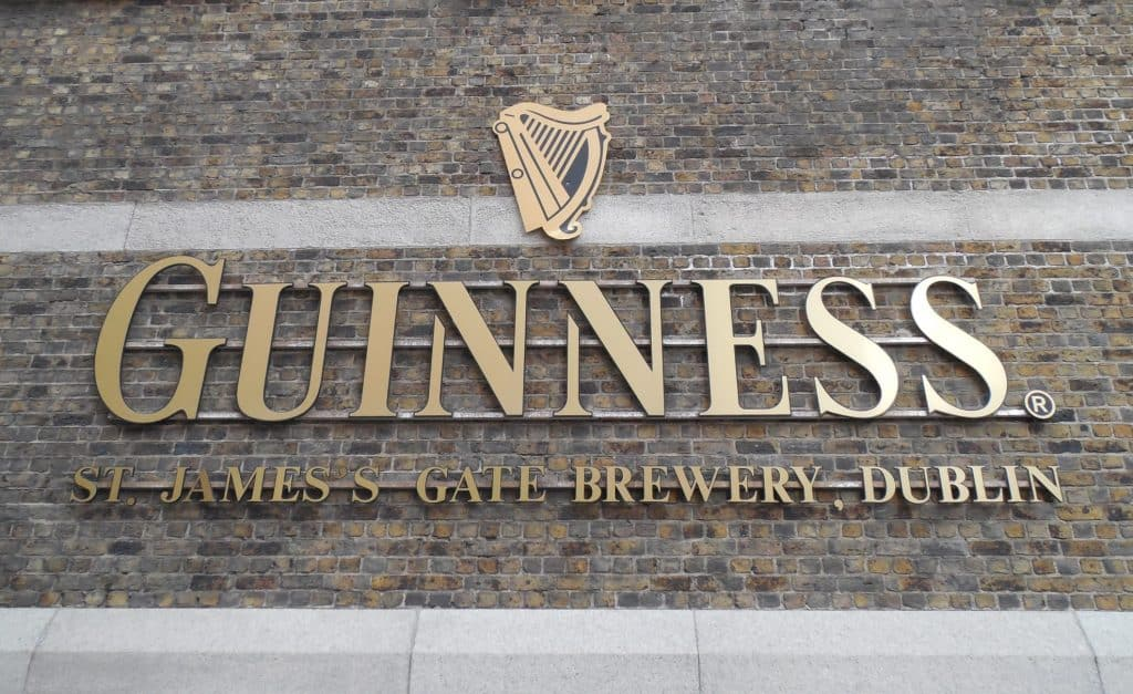 Breweries of Ireland include St. James's Gate Brewery in Dublin
