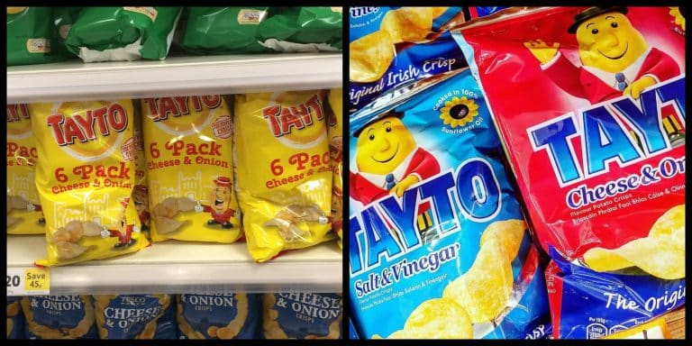 Tayto in Northern Ireland versus the Republic of Ireland