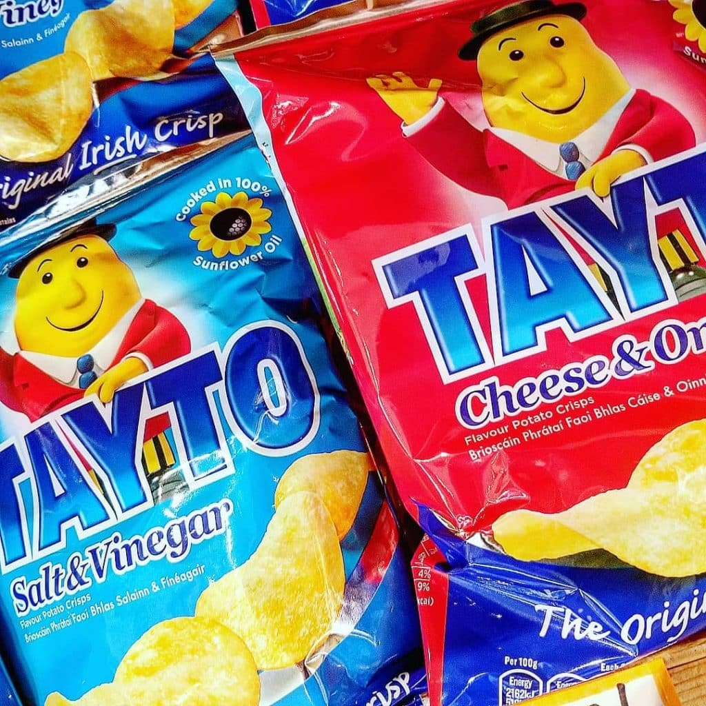 Irish foods you need to try include Tayto crisps.