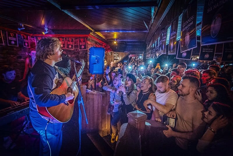 Locals love the live music at the Bleeding Horse in Ireland's capital city