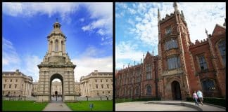 The top 5 universities in Ireland based on global ranking