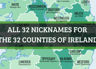 32 nicknames for the counties of Ireland